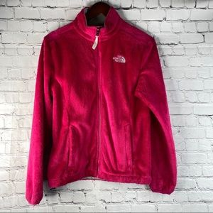 THE NORTH FACE Fuzzy Pink Zip Up Jacket S